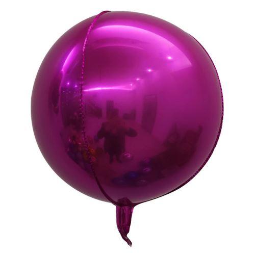 10 pcs Ballons en Aluminium 18 Pouces pour Noël Soirée Maison Jardin Fete Mariage - Rose foncé