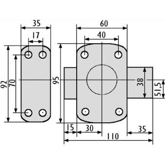 29cd1568b2c1 Verrou de securite Vachette Cyclop à bouton pour porte 23 a 28 mm -  Accessoires pour placards - Achat   prix   fnac