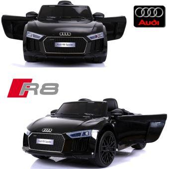 c10feb6cd69999 Voiture électrique enfant 12 volts nouvelle Audi R8 pack luxe noir à  télécommande parentale siège simili cuir zudio bluetooth - Véhicule  électrique pour ...