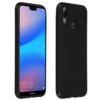 Coque Huawei P20 Lite Protection Silicone gel souple Anti-rayure Noir mate