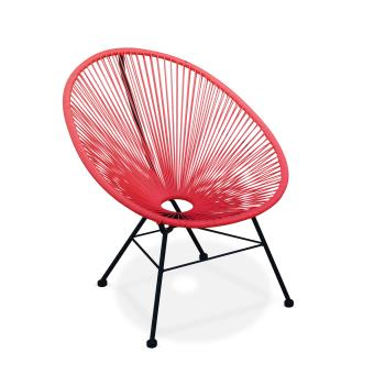 Fauteuil Acapulco chaise oeuf design Corail - Alice\'s Garden ...