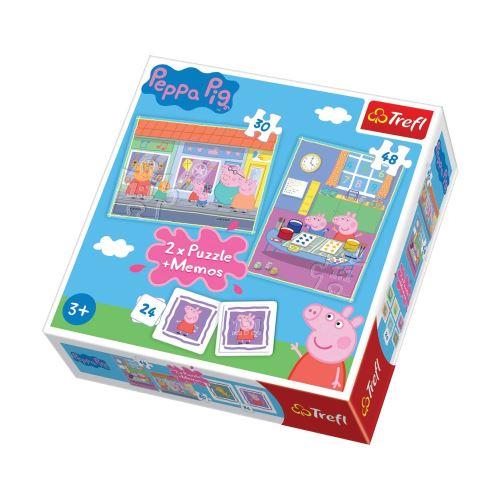 2 Puzzles Peppa Pig et un mémo - + 3 ans - 30/48 pièces