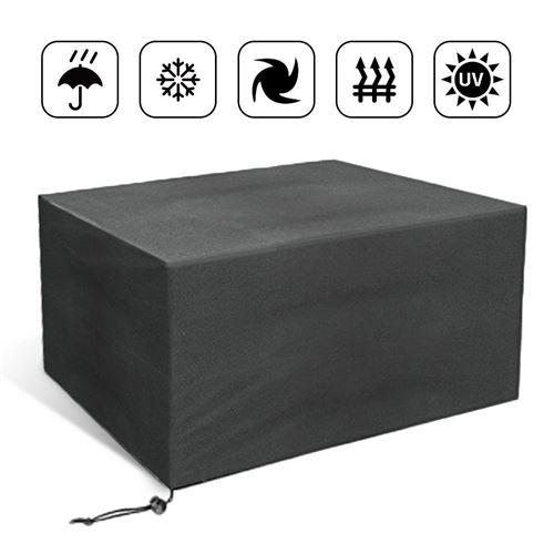 Housse de protection table rectangulaire de jardin 110×110×65cm noir HOMBUY
