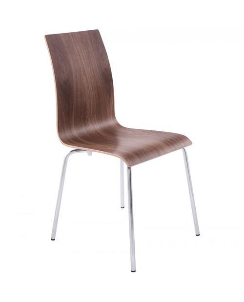 chaise design (non empilable) CLASSIC WALNUT 41x48x88 cm