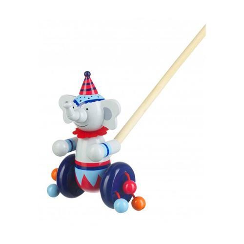 Orange Tree Toys Jouets En Bois A Pousser - Cirque Éléphant