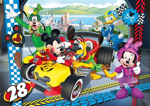 Clementoni puzzle Car Racing Mickey Mouse Roadster Racers