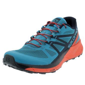 Chaussures running trail Salomon Sense ride blue trail Bleu