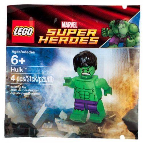 Mini figurine exclusive LEGO Marvel Super Heroes 6001095 Hulk avec pantalon violet déchiré en sac