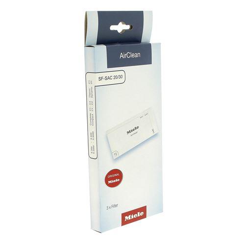 Filtres air clean par 3 pour Aspirateur Miele