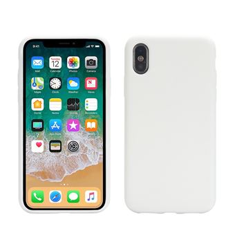 coque silicone blanc iphone x