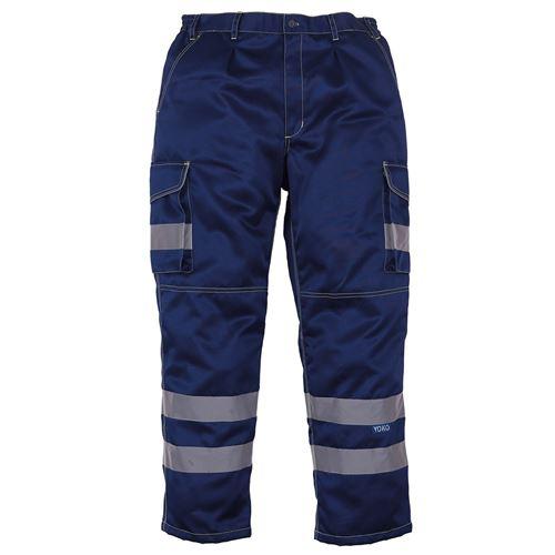 Yoko - Pantalon cargo haute visibilité (Lot de 2) (46 FR Régulier) (Bleu marine) - UTRW6887