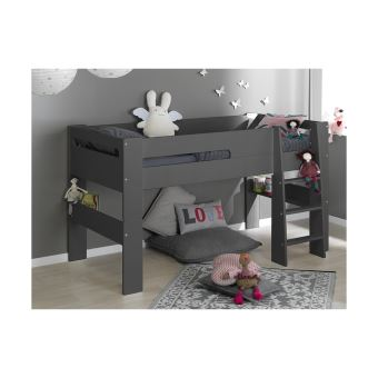 lit mi hauteur enfant london chambrekids gris anthracite lit pour enfant achat prix fnac. Black Bedroom Furniture Sets. Home Design Ideas
