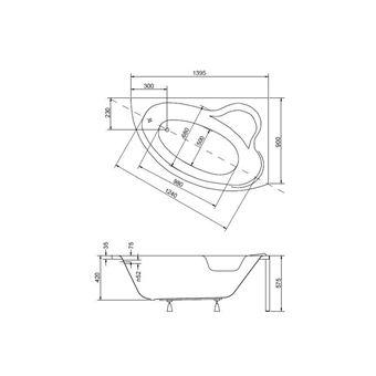 Baignoire D Angle Oriego Maxi 140x90 Cm Gauche Ou Droite Avec Tablier Orientation Droit Installations Salles De Bain Achat Prix Fnac