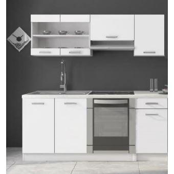 cuisine dana blanc laqu 1m80 6 meubles achat prix. Black Bedroom Furniture Sets. Home Design Ideas