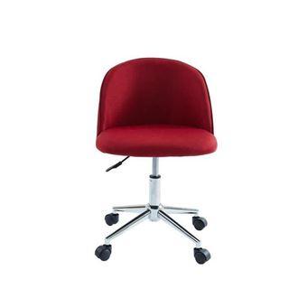 Chaise Classique Tissu de bordeaux MACARON bureau rouge OXPukZi
