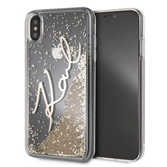 Coque Iphone Xs Max 6 5 Karl Lagerfeld Liquid Paillette Or