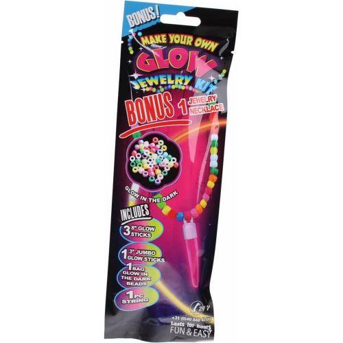 Stick lumineux bracelet fluo bague perle pendentif glow carnaval fête mod 5