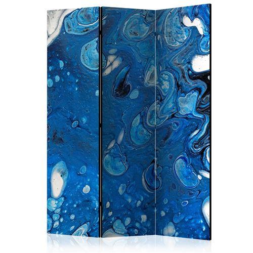 Paris Prix - Paravent 3 Volets blue Stream 135x172cm
