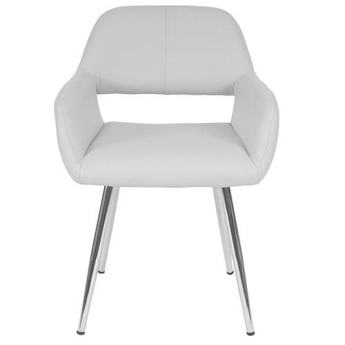 marron 6x chaise de salle à manger chaise fauteuil Littau cuir synthétique Helle JAMBES