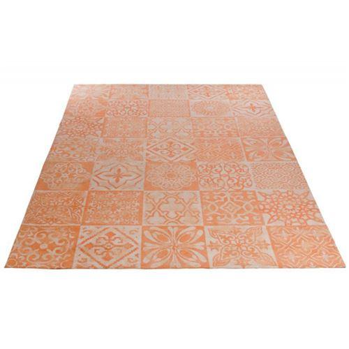 Paris Prix - Tapis De Salon athènes 200x300cm Orange & Gris