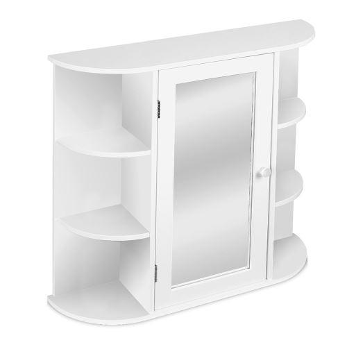 Sunfay - 3 étage Armoire murale salle de bain avec miroir Blanc 60*17*58cm