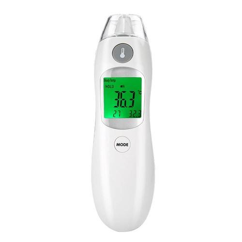 Thermomètre infrarouge numérique pour front oreilles de bébé Blanc