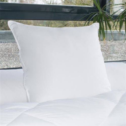 Oreiller Gonflant Alaska, 700gr/m², 60x60cm, Enveloppe 100% Coton Percale