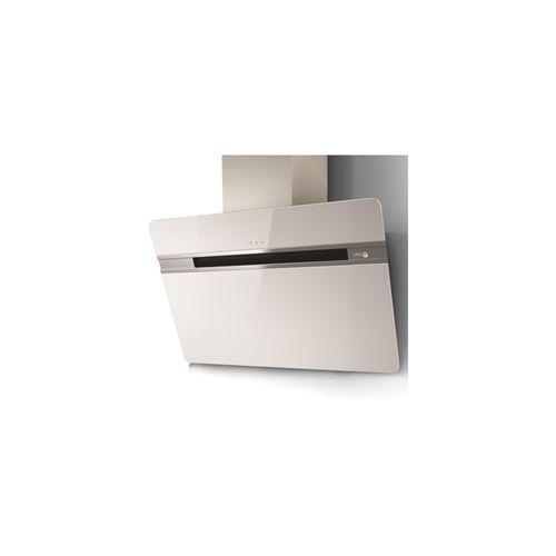 Turboair THUNDER WH/A/90/LX - Hotte - hotte décorative - largeur : 89.8 cm - extraction et recirculation (avec kit de recirculation supplémentaire) - Blanc verre