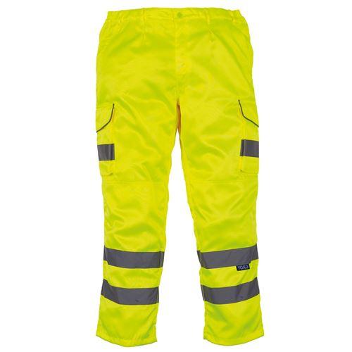 Yoko - Pantalon cargo haute visibilité (Lot de 2) (46 FR Régulier) (Jaune) - UTRW6887
