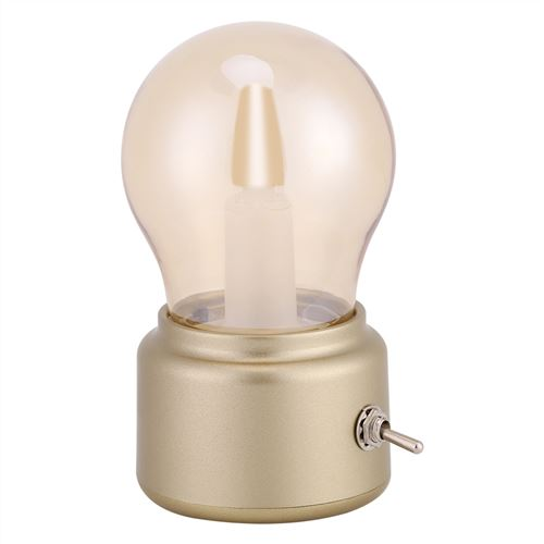 Lampe de Bureau Créative Rétro Lampe de Nuit USB Rechargeable Doré