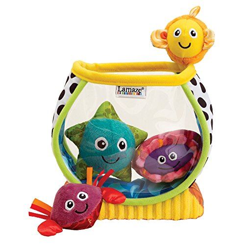 LAMAZE - My First Fishbowl Toy, Capture Babys Curiosity with Sea Creatures to Rattle, Squeak and Collect with Colorful Patterns, Interesting Textures and Unique Sounds, 6 Months and Older