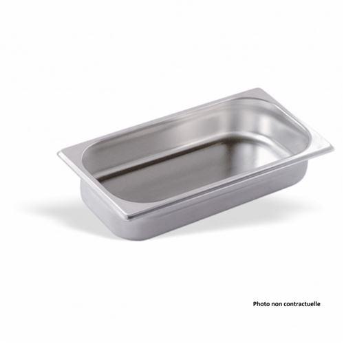 Bac Gastro Inox GN 1/3 - H 100 mm - Pujadas - Inox380 cl