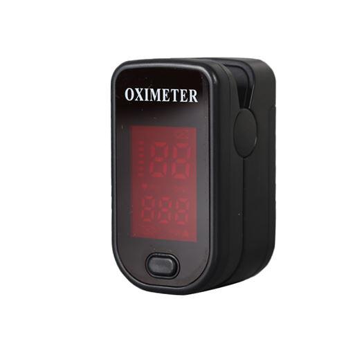 Oxymètre de pouls 129 de surveillance de la saturation avec écran LED - Noir