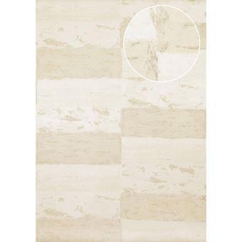 Papier Peint Aspect Pierre Carrelage Atlas Ico 2705 1 Papier Peint Intissé Lisse Avec Un Dessin Nature Satiné Blanc Beige Gris Or 7035 M2