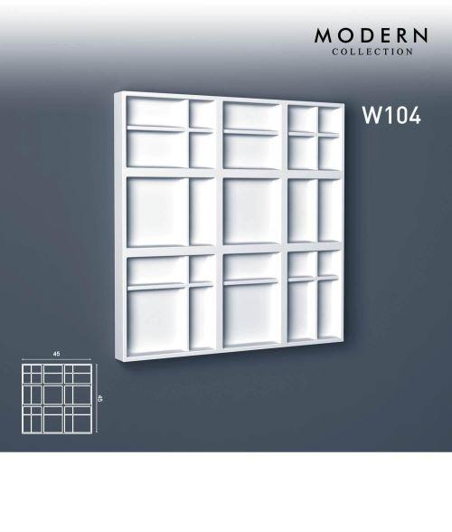 3d panneau mural Orac Decor W104 MODERN KILT Élement décoratif design moderne blanc