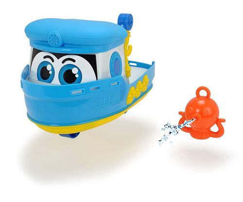 Dickie Toys 203814006 Happy Boat, Bateau Jouet pour Enfants avec Pieuvre avec Fonction Spritz Eau, 25 cm