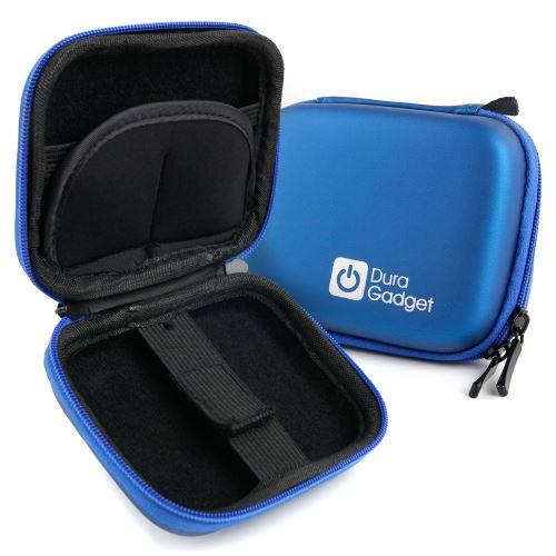 Duragadget Etui Housse Rigide Bleu pour Nikon Coolpix A10 et A100, Sony DSC-W810B et Polaroid iE126