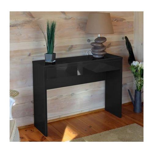 Meuble d'entrée, console ARENA coloris noir. Meuble design pour votre entrée