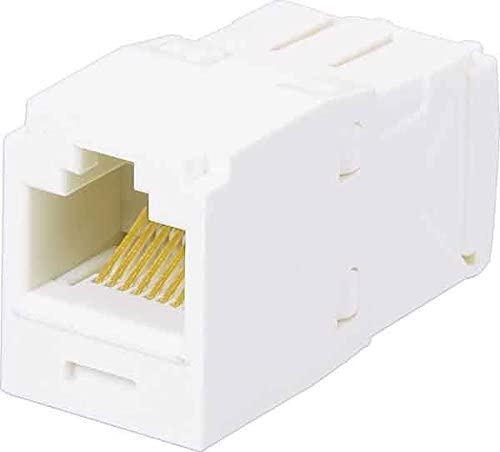 Panduit UTP RJ45 TG-minijack Arctic White RJ45 CAT6 a White Cable Interface/Gender Adapter – Cable Interface/Gender Adapters (RJ45, White)