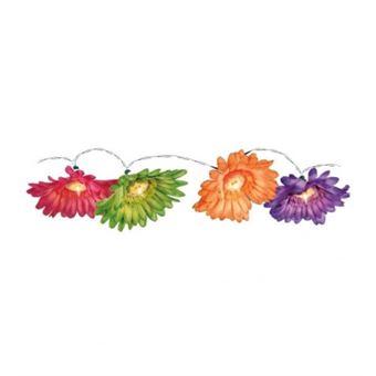Guirlande De 10 Lampes Sur Chaine Lumineuse Exterieur 1 5m Fleur