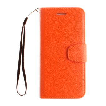 coque iphone 8 cuir orange