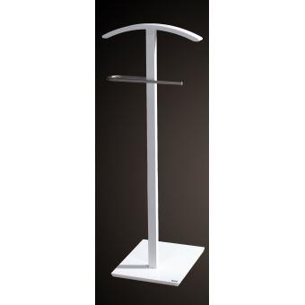 Valet de nuit simple en bois Blanc, Dim : 46 x 32 x 112 cm (Poids : 2.8)  -PEGANE-