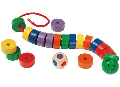 Selecta Spielzeug jeu de laçage Caterpillar junior bois 20 pièces