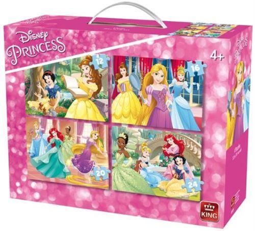 Puzzles de 12 à 24 pièces : 4 puzzles : princesses disney king puzzles