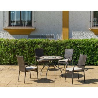 Salon de jardin mosaïque artisanale Cambel Bergamo - Mobilier de ...