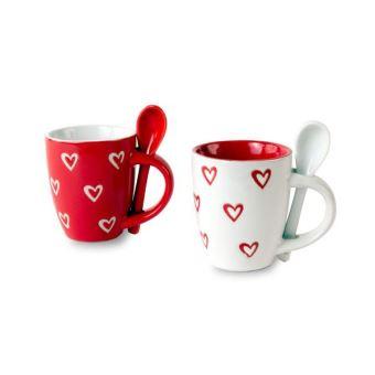 Petite Coeurs Mug Tasse Cuillère Avec Et Achat Motifs De Café BdxeCWro