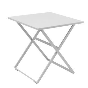 Table exterieur pliante carrée en aluminium rosy tresi