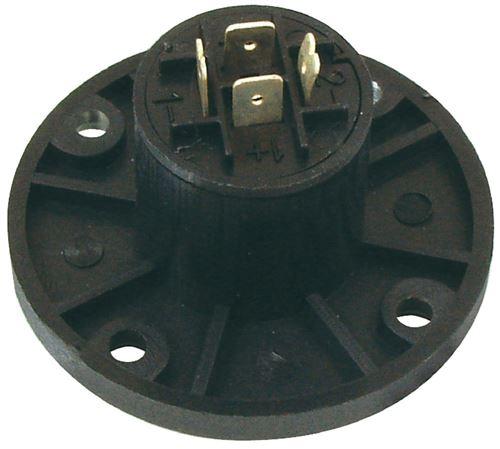 Valueline SPK-4CR Connecteur Haut-parleur 4 Pôles Femelle Pvc Noir