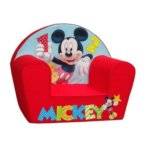 MICKEY Fauteuil Club Bebe Rouge -Disney Baby