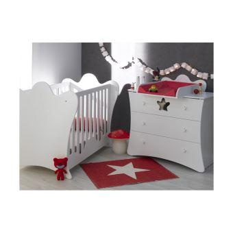Petite chambre bébé King Chambrekids Blanc - Chambres enfant ...